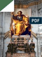 Vísperas Cátedra de san Pedro 22 de febrero