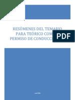 RESÚMENES DEL TEMARIO PARA TEÓRICO COMÚN