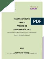 Ambientacion 2013