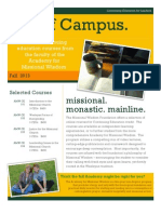 Continuing Education Courses presented by the Missional Wisdom Foundation.