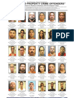 Most Wanted Property Crime Offenders, Feb. 2013