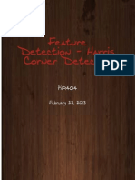 Feature Detection - Overview of Harris Corner Feature Detection