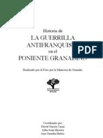 Historia de La Guerrilla Antifranquista en El Poniente Granadino