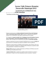 21-02-2013 Puebla noticias - Encabeza Moreno Valle Primera Reunión Nacional de Desarrollo Municipal 2013.pdf