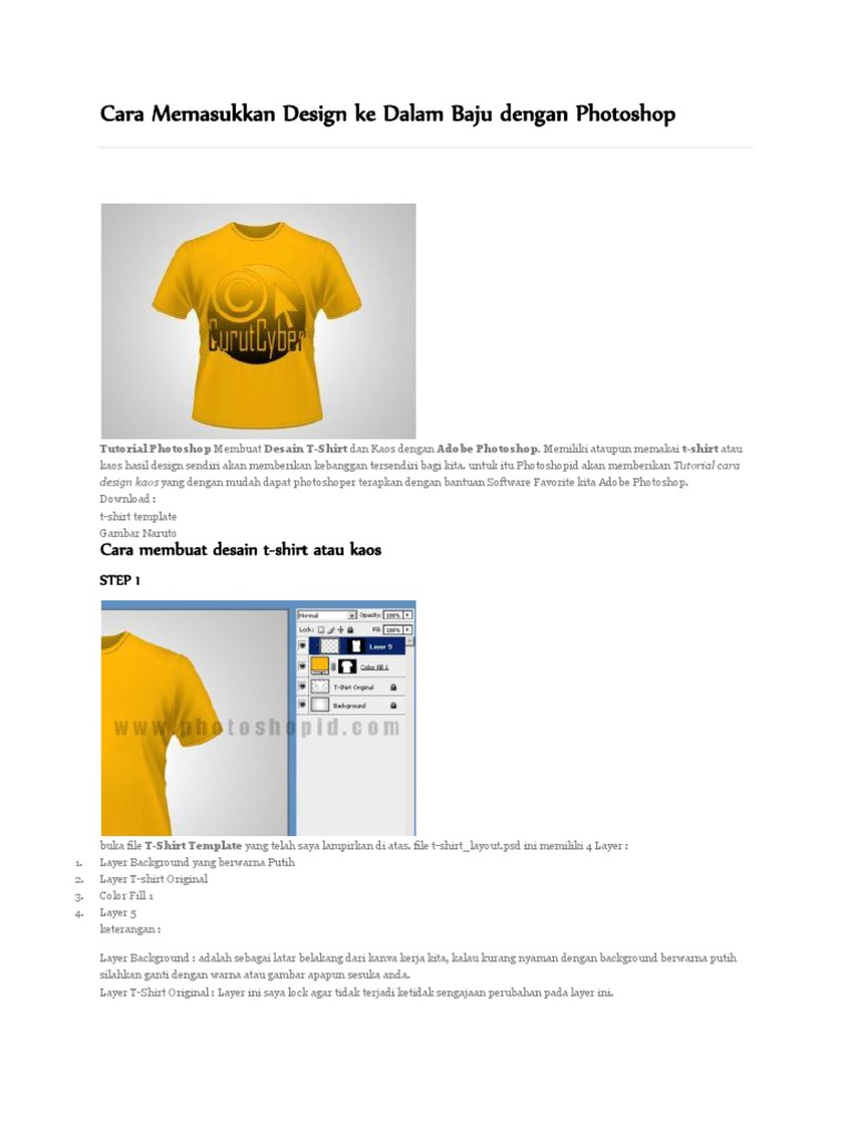 Cara Memasukkan Design Ke Dalam Baju Dengan Photoshop Cara Membuat Desain T Shirt Atau Kaos