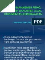 Manajemen Resiko, Aspek Etik Dan Legal Dokper