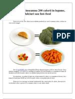 Cat de mult inseamna 200 calorii in legume, dulciuri sau fast-food