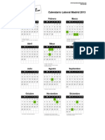 Calendario Laboral Madrid 2013 PDF