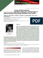 Metabolic Engineering of Plant-Derived (E)-Beta-farnesene Synthase