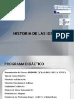 HISTORIA DE LAS IDEAS DE LA FÍSICA