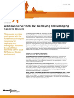 Windows Server 2008 R2 Deploying and Managing Failover Cluster WorkshopPLUS(4Days)