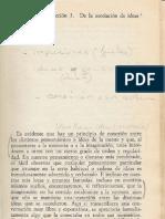 David Hume - Investigacion Sobre El Conocimiento Humano - Seccion 3 - De La Asociacion de Ideas