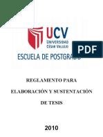 Reglamento Esquemas de Proyectos de Tesis UCV
