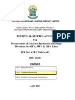 Technical Specifications- Isolators