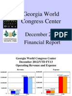 GWCCA December 2012 Financial Report