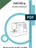 Euro-pro Sewing Machine Manual