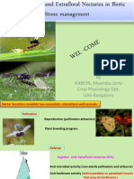 Role of Nectar and Extrafloral Nectaries in Biotic Stress Management