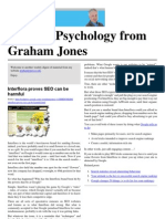 Internet Psychology from Graham Jones