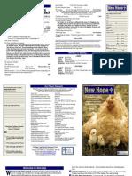 2013 Worship Bulletin