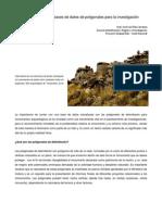 La formulación de bases de datos de poligonales para la investigación