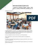 Pasa en Estados La Reforma Educativa