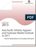 Asia Pacific Athletic Apparel and Footwear Industry to reach USD 58.6 billion by 2017