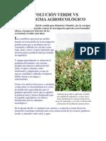 REVOLUCIÓN VERDE VS PARADIGMA AGROECOLÓGICO