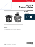 Honeywell Mp953 Pneumatic Positioner