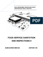 7838967 US Army Medical Course MD0182100 Food Service Sanitation and Inspections II