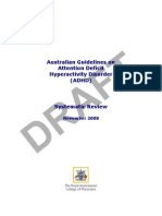 Australian Guidelines on Attention Deficit Hyperactivity Disorder