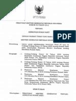 Permenkes Nomor 012 Tahun 2012 Tentang Akreditasi Rumah Sakit