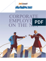 JuxtConsult India Online 2007 Corporate Employees on the Net Report