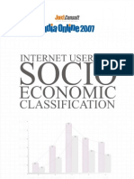 JuxtConsult India Online 2007 Internet Users by Socio Economic Classification Report