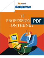 JuxtConsult India Online 2007 IT Professionals on the Net Report