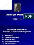 rudolf dreikurs essay Classroom management the theories of rudolf dreikurs dreikurs' social discipline model classroom management rudolf dreikurs 1897-1972 austrian born, american psychiatrist and educator who adapted alfred adler's system of individual psychology into a pragmatic method for understanding the purposes of behavior in children and for stimulating.