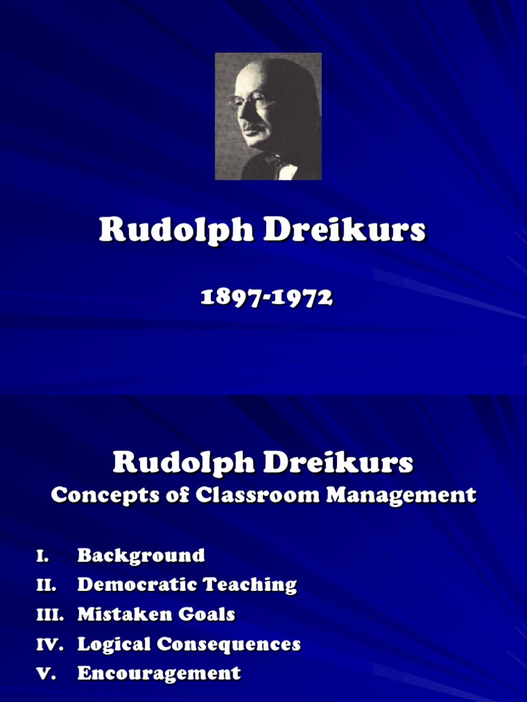 rudolf dreikurs theory
