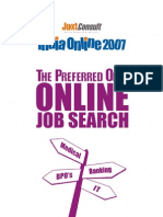 JuxtConsult India Online 2007 Online Job Search Report
