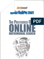 JuxtConsult India Online 2007 Online Matrimonial Search Report