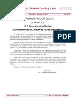 BOCYL-Info pública URANIO VILLAVIEJA