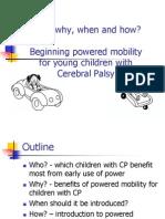 Beginning Power Mobility Therapist Presentation