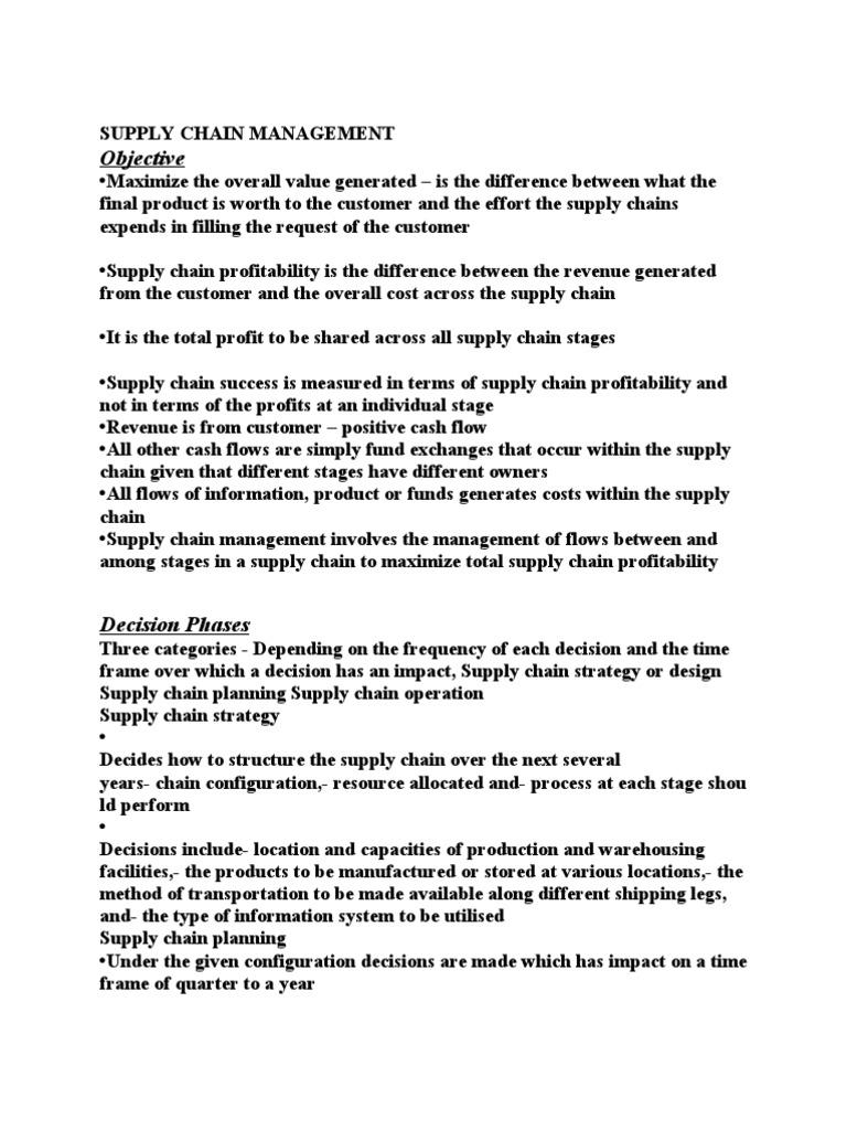 Supply Chain Management | Supply Chain | Demand