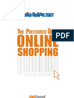 JuxtConsult India Online 2007 Online Shopping Report