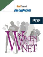 JuxtConsult India Online 2007 Women on Net Report
