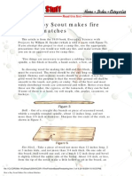 How a Boy Scout Makes Fire Without Matches 2004