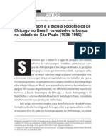 MENDOZA, Edgar S.G. Artigo Donald Pierson e a Escola Sociológica de Chicago no Brasil. Sociologias. Porto Alegre, 2005.