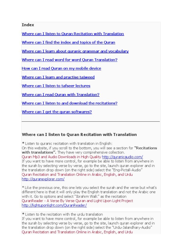 Listen to Quran Recitation With Translation | Quran | Surah