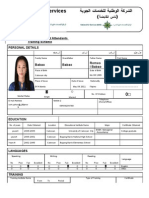 Application Form for Flight Attendants With NAS