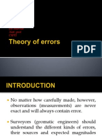 Theory of Errors