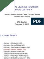 Lecture 4 (D. Geman)