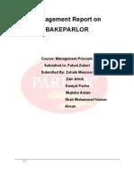 Bake Parlor Report